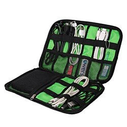 Navor Cable Organizer Accessories Travel Bag USB Drive Bag Healthcare Kit Black