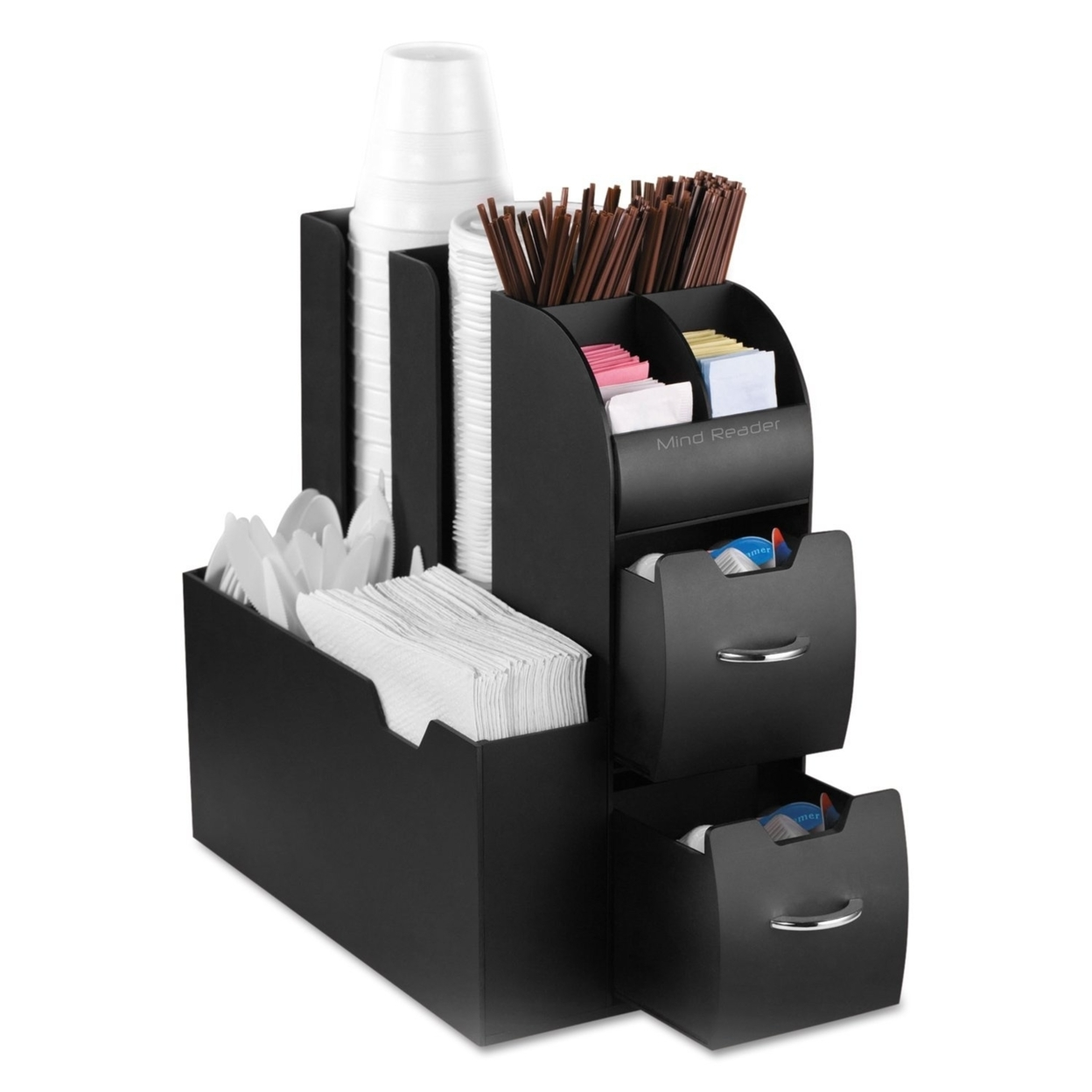 "Organizer"" Coffee Condiment and Accessories Caddy, Black Coffee Oranizer 56f16be56a3d6fda718b45d0"
