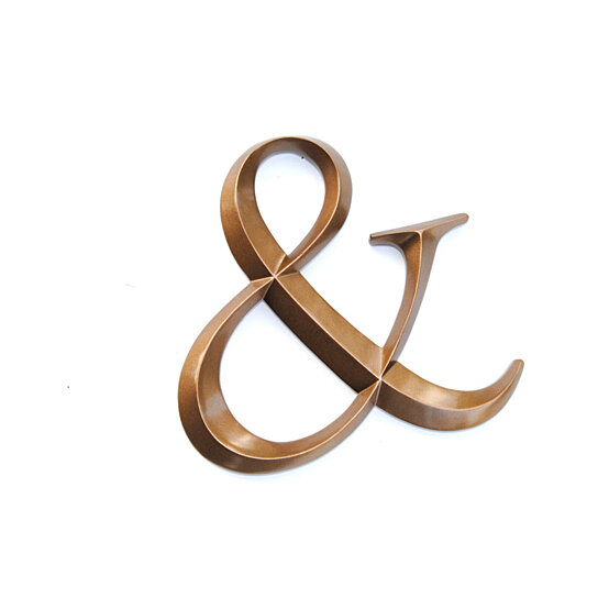 Buy bronze ampersand sign large wall ampersand wedding for Ampersand decor