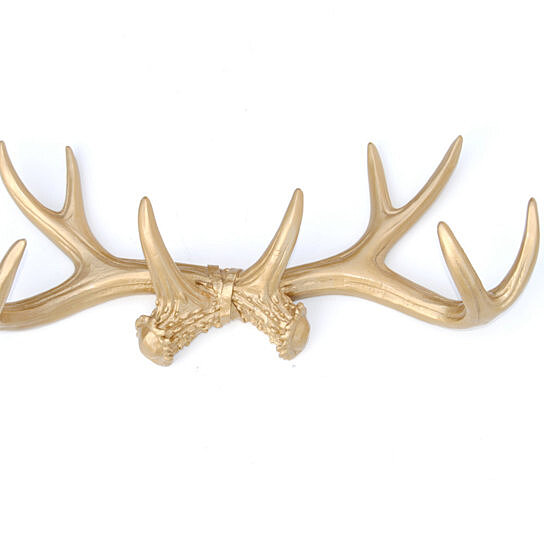Buy faux taxidermy antler rack wall hook resin antler for Antler wall decor