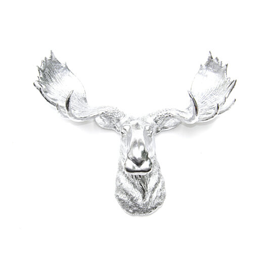 Buy faux taxidermy chrome moose head wall mount fake resin moose unique wall decor m1313 - Fake moose head mount ...