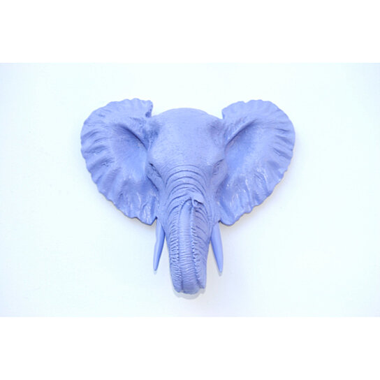 Small Elephant Decor: Buy Faux Taxidermy Small Lavender Elephant Wall Mount