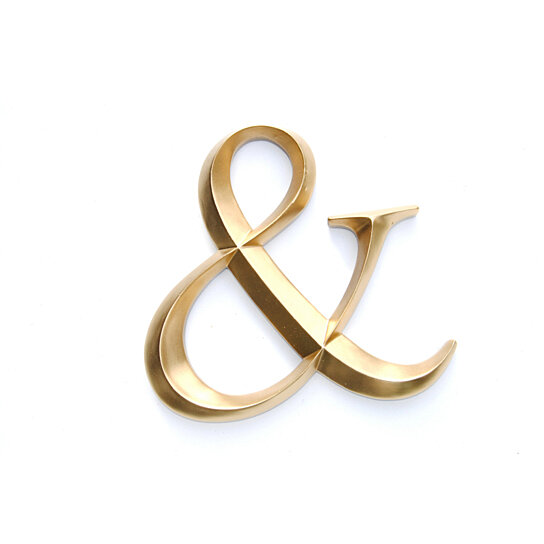 Buy gold ampersand sign large wall ampersand wedding for Ampersand decor