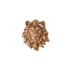 Miniature Bronze Lion Wall Mount - Faux Taxidermy MLI09