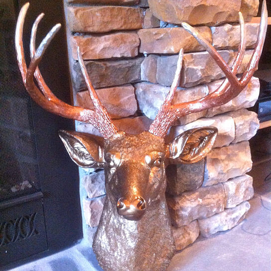 Buy Ombre Deer Head Decor Faded Metallic Bronze To