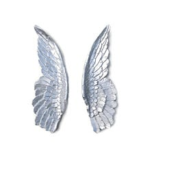 Silver Angel Wings - Angel Wing Wall Decor - Sympathy Gift - Loss of Loved One - Spiritual or Religious Memorial Wall Decor - ANG10