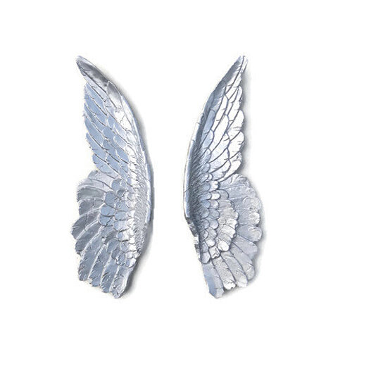 buy silver angel wings angel wing wall decor sympathy distressed angel wings wall hanging home decor painted sea
