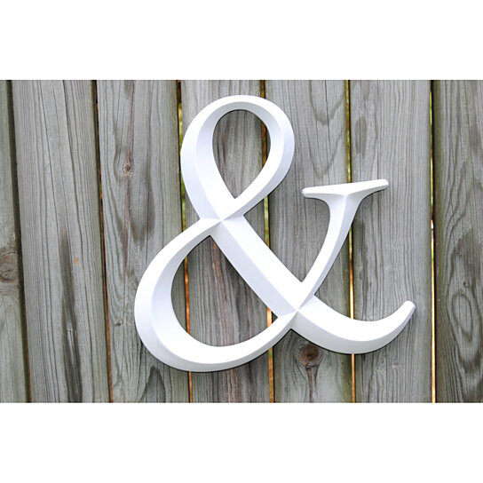 Buy white ampersand sign large wall ampersand wedding for Ampersand decor