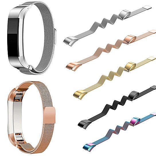 Soft Fitness Metal Wristband Band Magnet Lock Bracelet for Fitbit Alta and  Alta HR