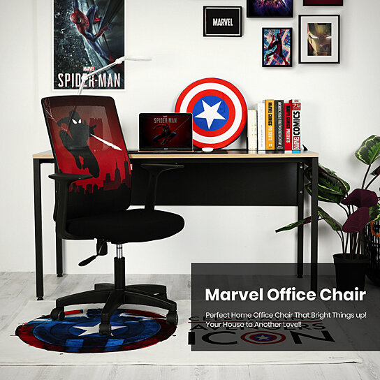 Buy Marvel Avengers Chair Computer Desk Chair Gaming Ergonomic Mid Back Cushion Lumbar Support Wheels Comfortable Mesh Spider Man By Neo Chair On Dot Bo