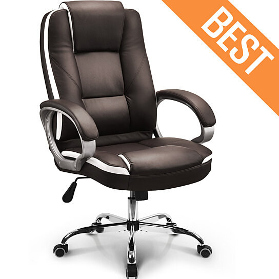 Buy Neo Chair Office Computer Desk Chair Ergonomic High Back Cushion Lumbar Support Comfortable Leather Seat Adjustable Swivel By Neo Chair On Dot Bo