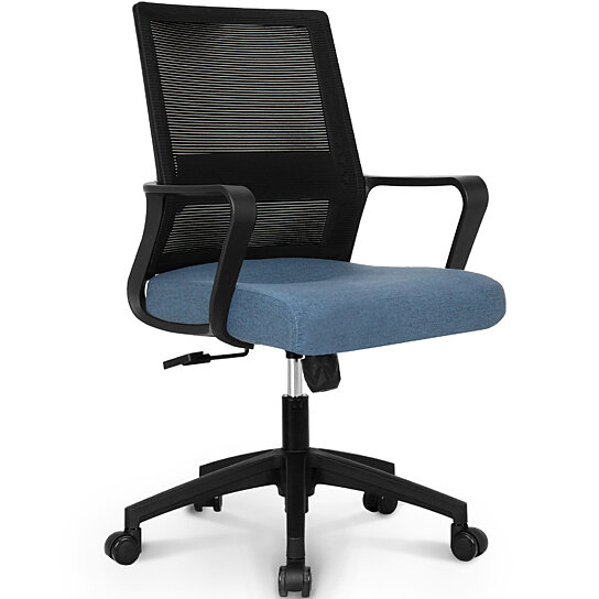 Buy Office Chair Computer Desk Chair Gaming Bulk Business Ergonomic Mid Back Cushion Lumbar Support With Wheels Comfortable Black Mesh 801b By Neo Chair On Dot Bo