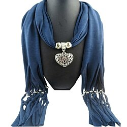 Double sided Heart Pendant Scarf