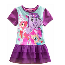 Girls Dress Kids Clothes Young Toddler My Little Pony Tutu Casual Dress
