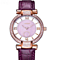Women's Watch Purple Leather Strap Rose Gold Ladies Watch