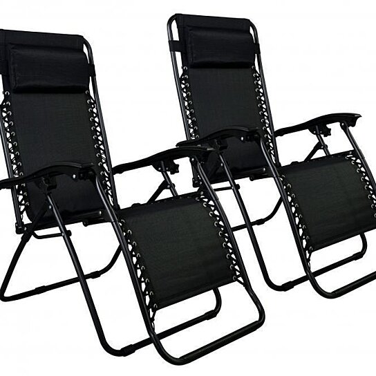 Buy New Zero Gravity Chairs Case Of 2 Lounge Patio Chairs Outdoor Yard  Beach By Newmall On OpenSky