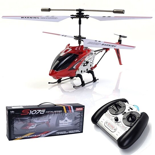 Buy Red Syma S107g 3ch Mini Remote Control Rc Helicopter Gyro New By
