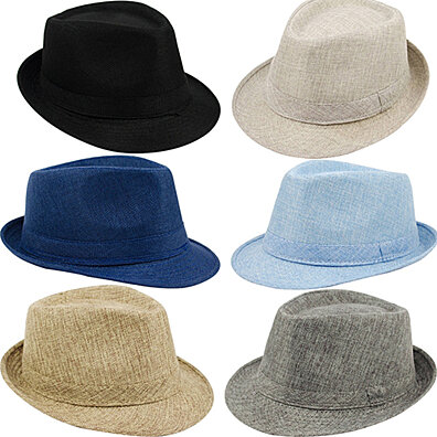 da18b312 Men's Women's Summer Beach Hat Sun Screen Linen Fedoras Outdoor Travel Hats