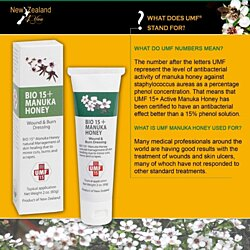 UMF 15+ Manuka Honey Wound and Burn Paste / Dressing