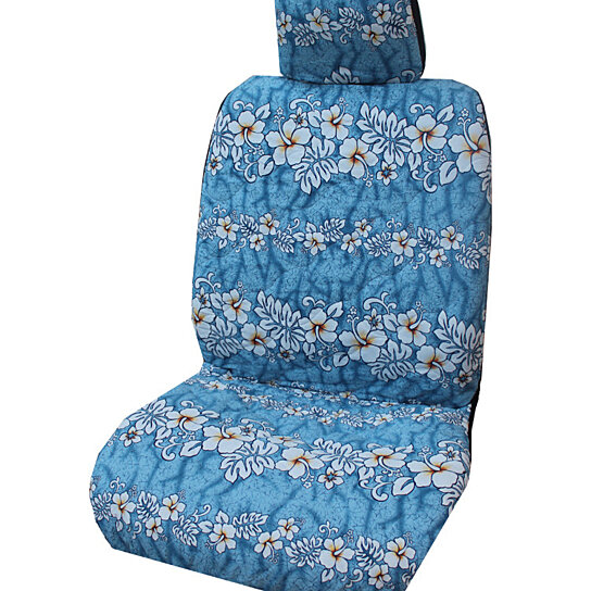 buy light blue hibiscus wave separate headrest hawaiian car seat cover by ninth isle on opensky. Black Bedroom Furniture Sets. Home Design Ideas