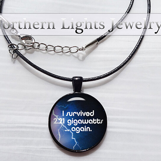 buy back to the future necklace gigawatt back to the future jewelry october 21 2015 doc and. Black Bedroom Furniture Sets. Home Design Ideas