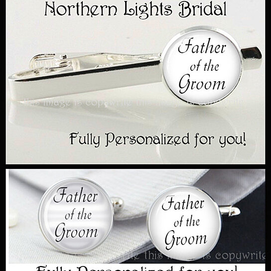 link SET Groom Gift PERSONALIZED Wedding Gift Bridal Party Dad gift ...