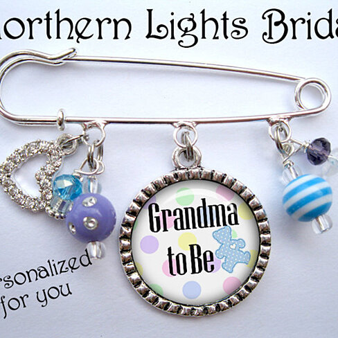 Buy its a boy grandma to be pin new mother grandmother for Grandmother jewelry you can add to