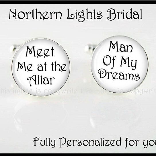 Wedding Left At The Altar: Buy Meet Me At The Altar Silver Cuff Links Groom Gift