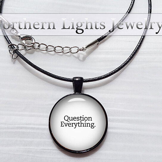 Buy question everything pendant philosophy pendant philosophy buy question everything pendant philosophy pendant philosophy necklace atheist necklace agnostic gift wiccan necklace pagan quote necklace gift by aloadofball Gallery
