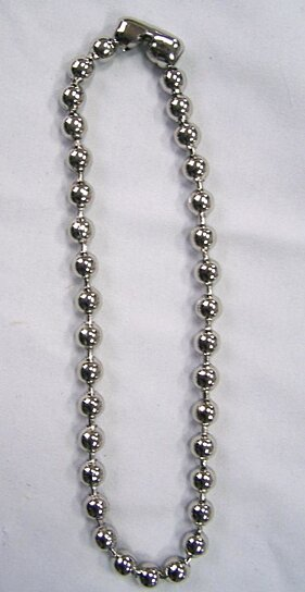 dog p bead ball necklace sterling tag silver chain