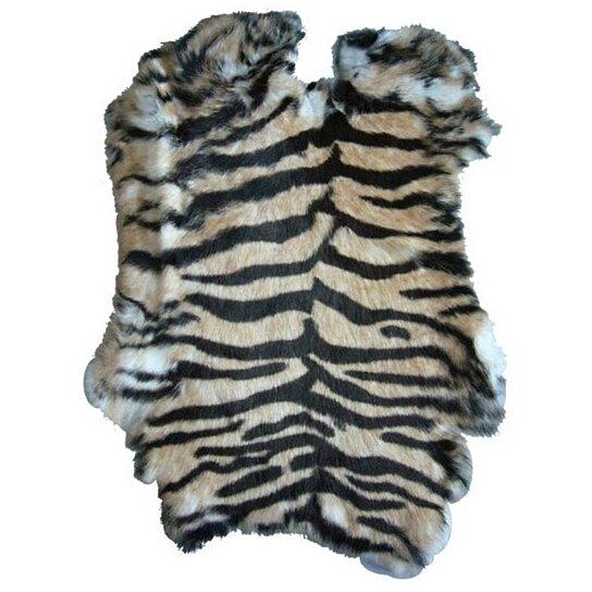 buy tiger design genuine rabbit skin new solf tan hide fur pelt craft skins bunny by noveltees. Black Bedroom Furniture Sets. Home Design Ideas