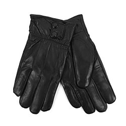 Genuine leather winter gloves