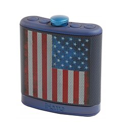 Sound Design iHome Rechargeable Flask Shaped Bluetooth Stereo Speaker - American Flag