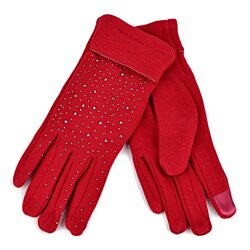 Touch Screen Women's Gloves with Studs Decoration