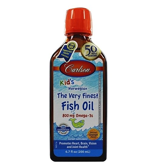 Buy carlson for kids the very finest fish oil great orange for Finest nutrition fish oil