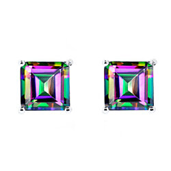 2.00 CTW Mystic Topaz Solitaire Earrings by GemmaLuna