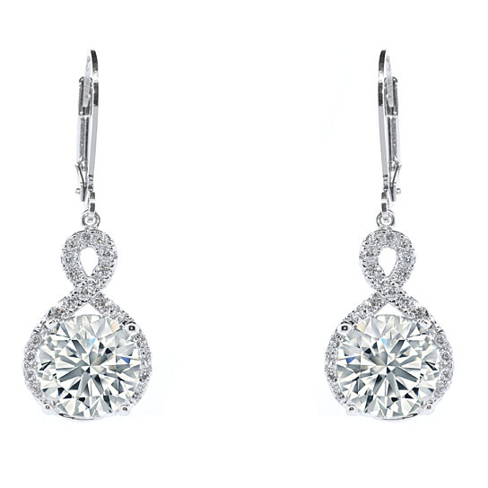 cfbe4603d Trending product! This item has been added to cart 12 times in the last 24  hours. Crystal Infinity Drop Earrings with Swarovski Elements