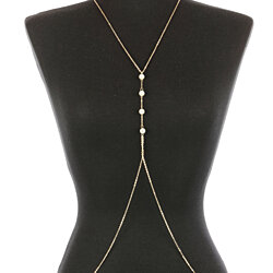 PEARL STRAND METAL LINK  BODY CHAIN