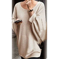 Elegant O Neck Knitted Pullover~~3 colors