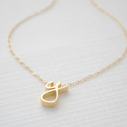 buy cursive initial necklace by olive yew on opensky