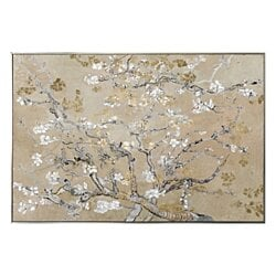 """Van Gogh in Gold Blossoms Inspiration"" Champagne Foil Framed Canvas Art"