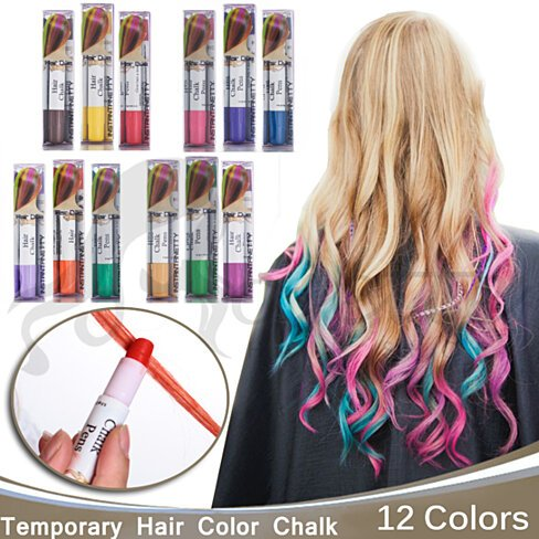 Buy joyous professional waxy hair chalk pens hair chalk for Color touch salon