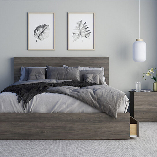 Buy Elephant 3 Piece Queen Size Bedroom Set Bark Grey By One Home