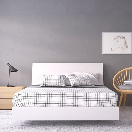 Buy Esker 3 Piece Queen Size Bedroom Set Natural Maple And White
