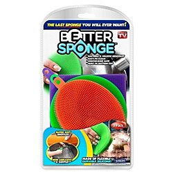 Better Sponge, 3 Multi-colored Textured Silicone Sponges by As Seen On TV