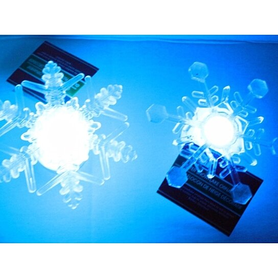 2 Led Color Changing Snowflakes Xmas Flashing Lights Window Suction Cup Decor By Opensky Collectibles On