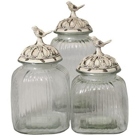 vintage glass canisters kitchen buy 3 antique white glass kitchen storage canister 22581