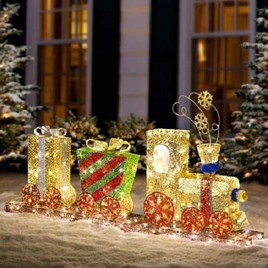 buy 59 outdoor led lighted pre lit choo choo train christmas yard art decor by opensky collectibles on opensky - Christmas Train Yard Decoration