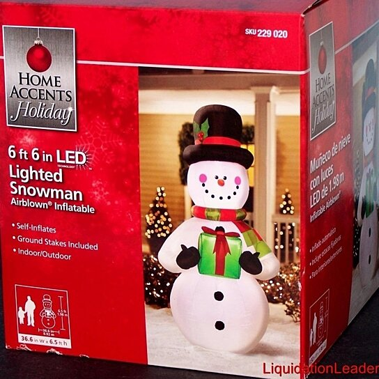 Buy 6 5 39 Led Lighted Snowman Airblown Inflatable Present