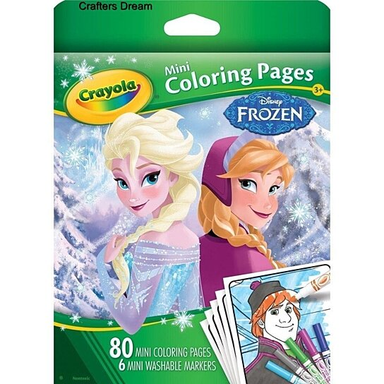 Free coloring pages of toddler anna and elsa for Crayola ultimate spiderman mini coloring pages